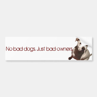 Adesivo Para Carro Nenhuns cães do mau, apenas proprietários maus
