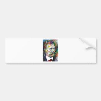 Adesivo Para Carro nietzsche de Friedrich - retrato da aguarela