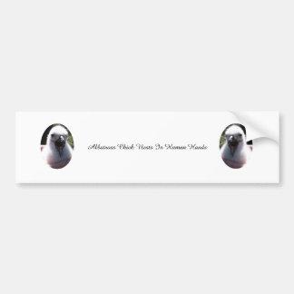 Adesivo Para Carro Ninhos do pintinho do albatroz nas mãos humanas