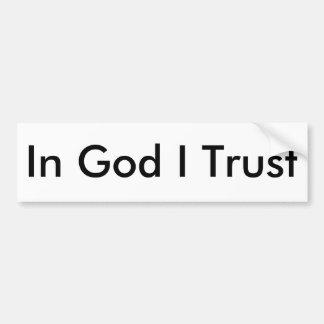Adesivo Para Carro No deus eu confio