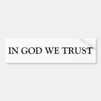 Adesivo Para Carro No deus nós confiamos