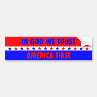 Adesivo Para Carro No deus nós confiamos, América primeiramente