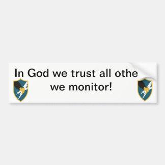 Adesivo Para Carro No deus nós confiamos, todos os outro que nós