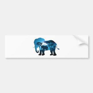 Adesivo Para Carro Noite africana com elefante 6