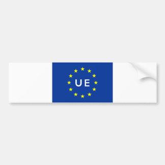 Adesivo Para Carro nome Europa do texto do país da bandeira da União