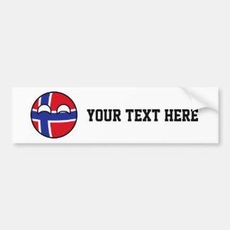 Adesivo Para Carro Noruega Geeky de tensão engraçada Countryball