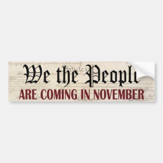 Adesivo Para Carro Nós as pessoas estamos vindo em novembro