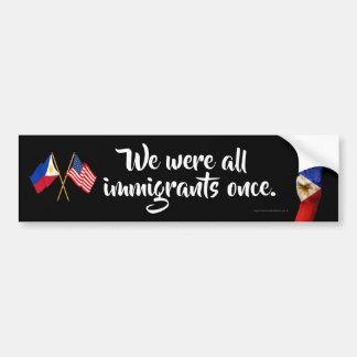 Adesivo Para Carro Nós éramos todos os imigrantes uma vez