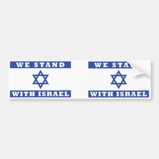 Adesivo Para Carro Nós estamos com Israel!