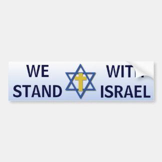 Adesivo Para Carro Nós estamos com Israel