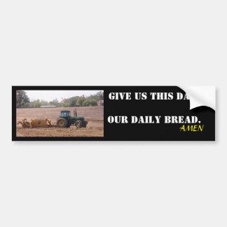 Adesivo Para Carro Nossa etiqueta diária do trator do pão