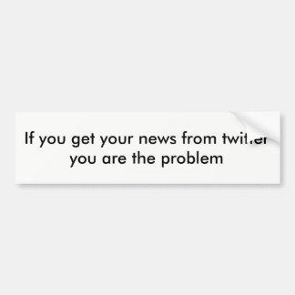 Adesivo Para Carro Notícia do Twitter