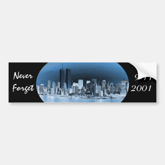 Adesivo Para Carro Nunca esqueça o 11 de setembro