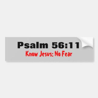 Adesivo Para Carro O 56:11 do salmo conhece Jesus nenhum medo