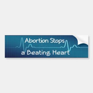 Adesivo Para Carro O aborto para um coração batendo