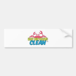 Adesivo Para Carro O ambiente mantem nosso slogan limpo dos oceanos