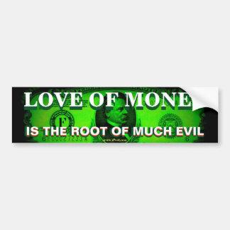 Adesivo Para Carro O amor do dinheiro é a raiz de muito mau