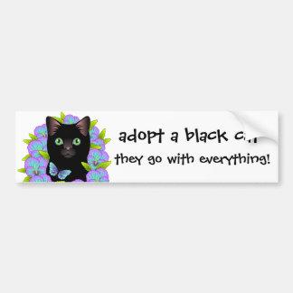 Adesivo Para Carro O amor do gato preto adota um gato do abrigo!