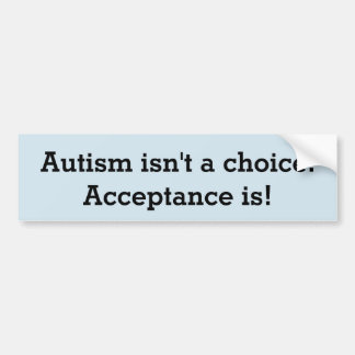 Adesivo Para Carro O autismo não é uma escolha