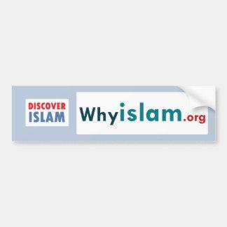 Adesivo Para Carro O autocolante no vidro traseiro descobre o Islão