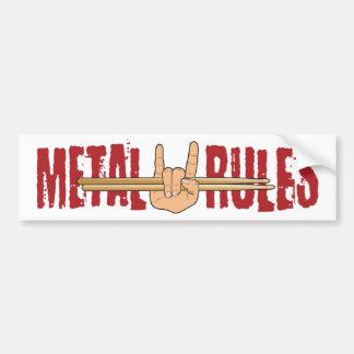Adesivo Para Carro O baterista da rocha do metal pesado ordena o