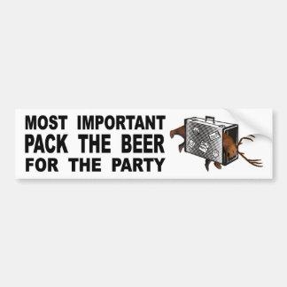 Adesivo Para Carro O bloco o mais importante a cerveja para o partido