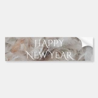 Adesivo Para Carro O cobertor do feliz ano novo para baixo empluma-se