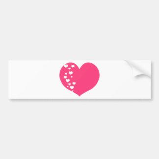 Adesivo Para Carro O coração segue o branco cor-de-rosa