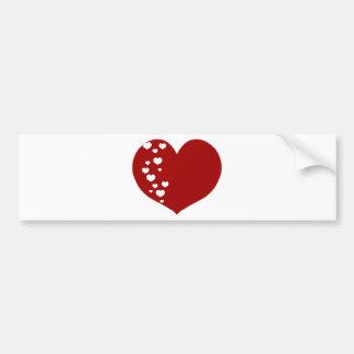 Adesivo Para Carro O coração segue o branco vermelho