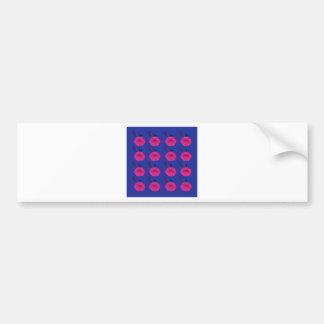 Adesivo Para Carro O design floresce o rosa azul