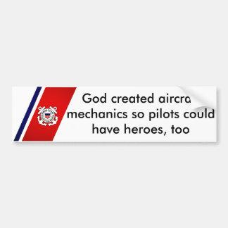 Adesivo Para Carro O deus criou mecânicos de aviões