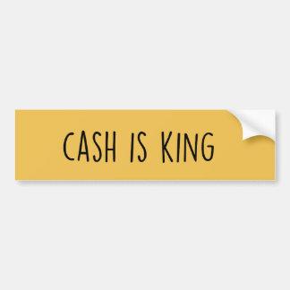 Adesivo Para Carro O dinheiro é rei autocolante no vidro traseiro