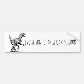 Adesivo Para Carro O dinossauro da evolução, mudança pode ser bom