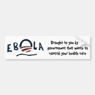 Adesivo Para Carro O Ebola-Governo em seu melhor