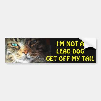 Adesivo Para Carro O gato abundante não é um cão da ligação