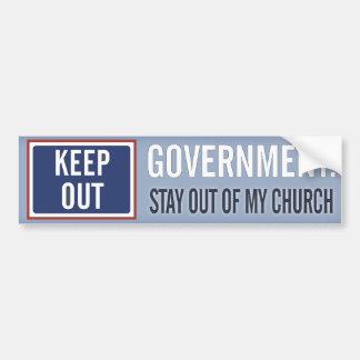Adesivo Para Carro O governo mantem-se fora de minha igreja