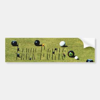 Adesivo Para Carro O gramado rola jogo e logotipo,