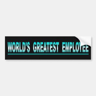 Adesivo Para Carro O grande empregado do mundo