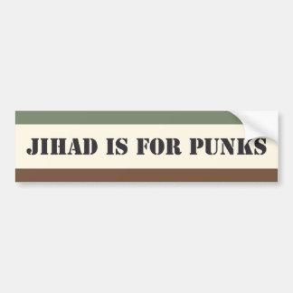 Adesivo Para Carro O Jihad é para punks