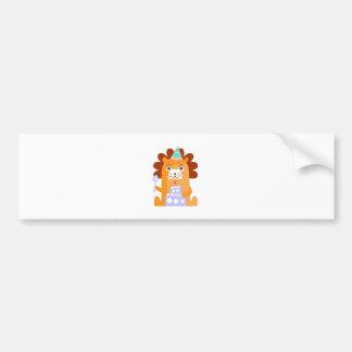 Adesivo Para Carro O leão com partido atribui Funky estilizado