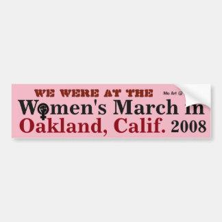 Adesivo Para Carro O março OAKLAND 2018 das mulheres -