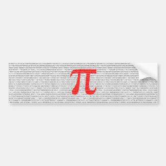 Adesivo Para Carro O número vermelho pi é um símbolo da constante