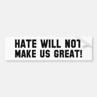 Adesivo Para Carro O ódio não fará o excelente dos E.U.