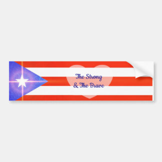 Adesivo Para Carro O pára-choque forte e bravo Sticke de Puerto Rico