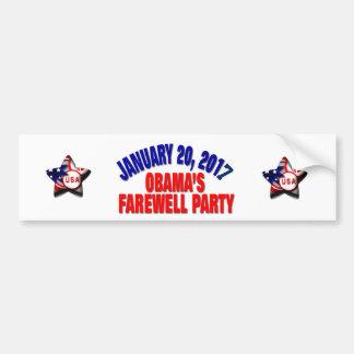 Adesivo Para Carro O partido de adeus de Obama