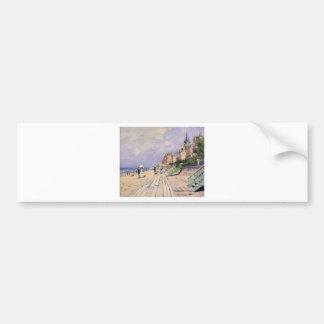 Adesivo Para Carro O passeio à beira mar em Trouville Claude Monet