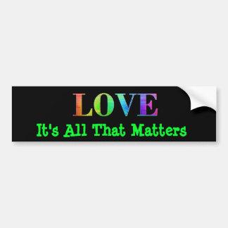 Adesivo Para Carro O preto do amor do arco-íris LGBT colore o coração