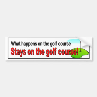 Adesivo Para Carro O que acontece nas estadas do campo de golfe no