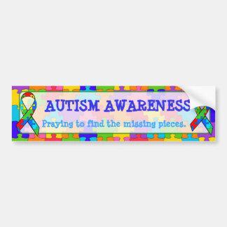 Adesivo Para Carro O quebra-cabeça da consciência do autismo remenda