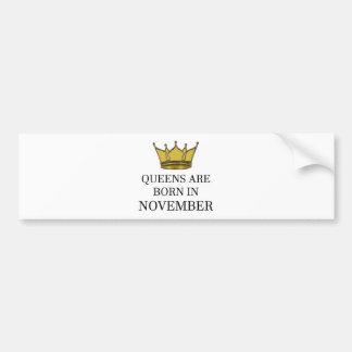 Adesivo Para Carro O Queens é nascido em novembro